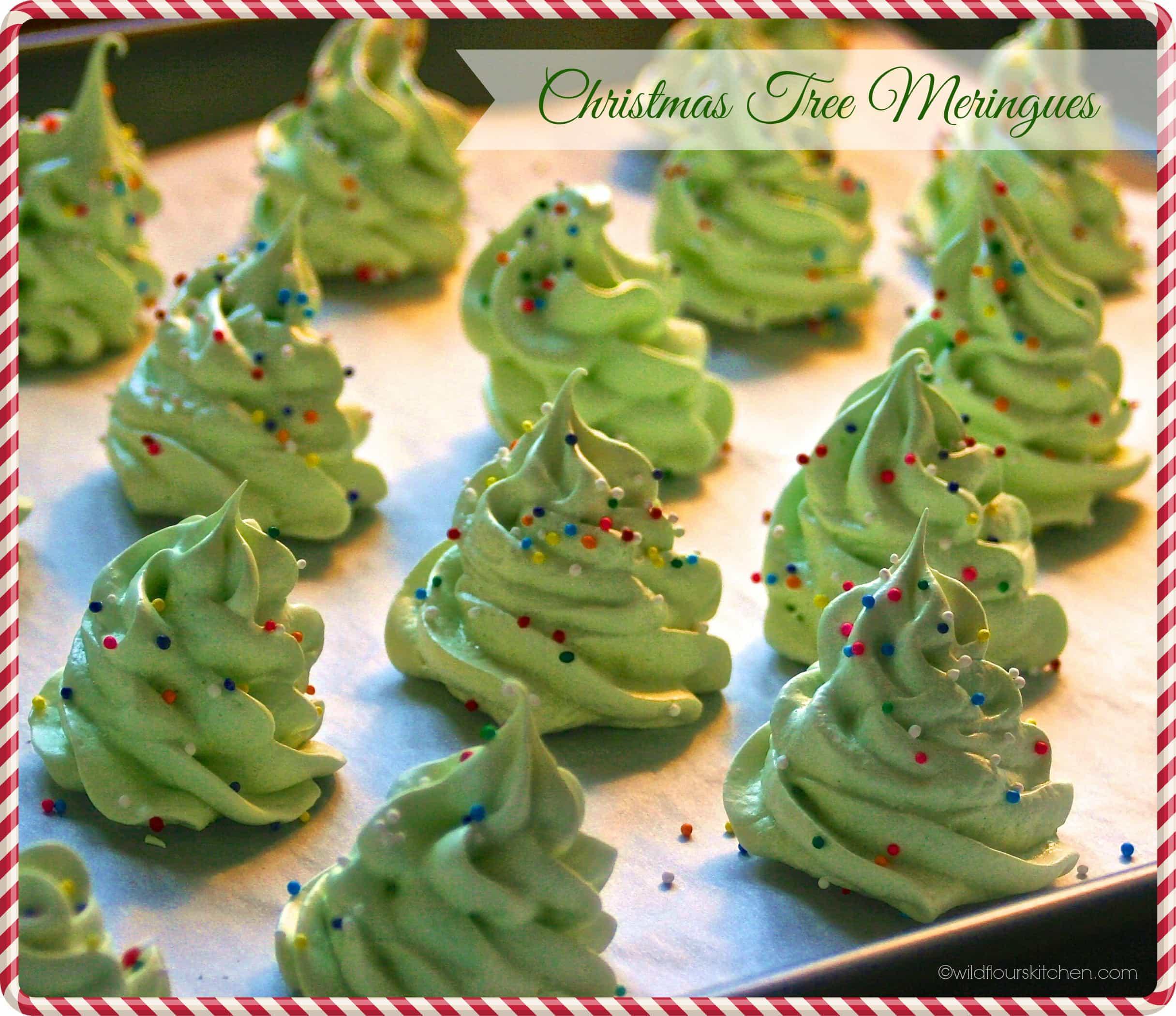 christmas tree meringues main - Christmas Tree Meringues