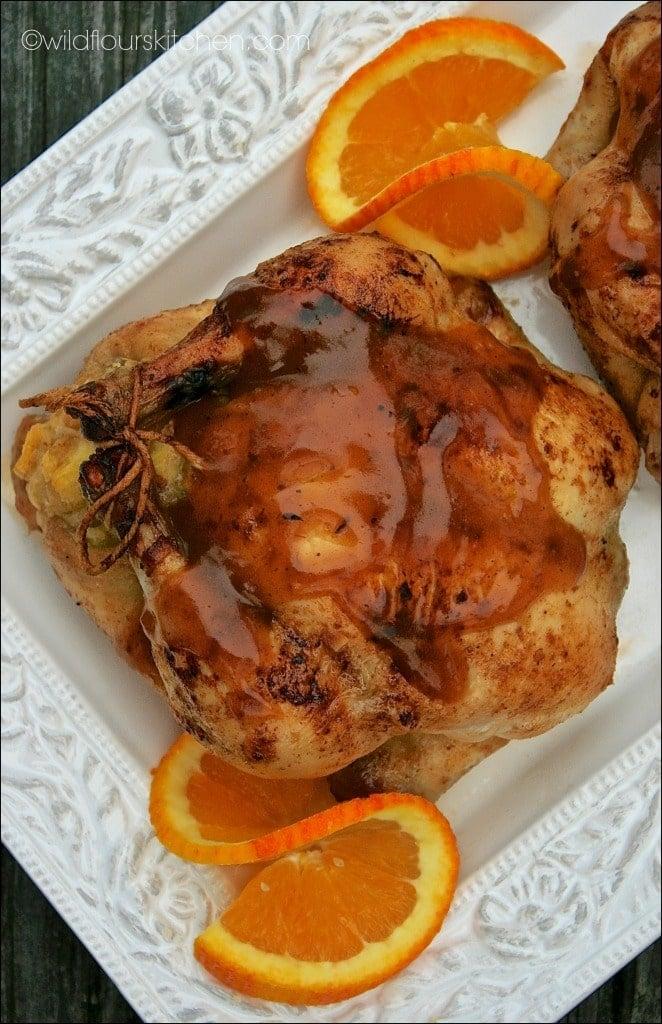 cornish hens with sauce