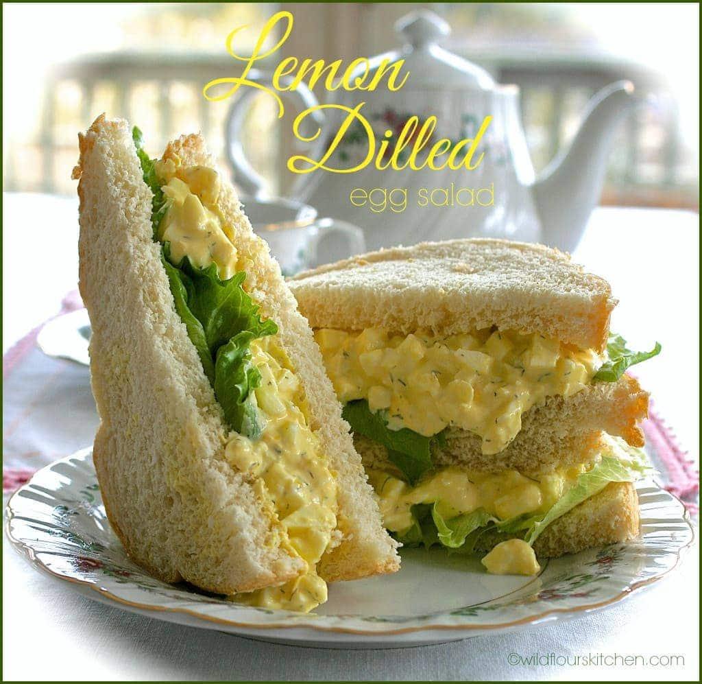 lemon dilled egg salad