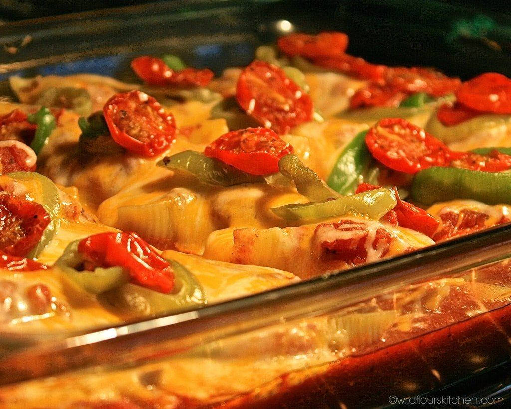 mexican stuffed shells in oven