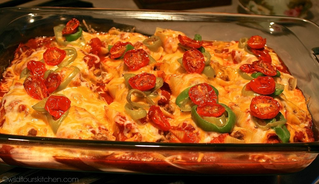 mexican stuffed shells out of oven