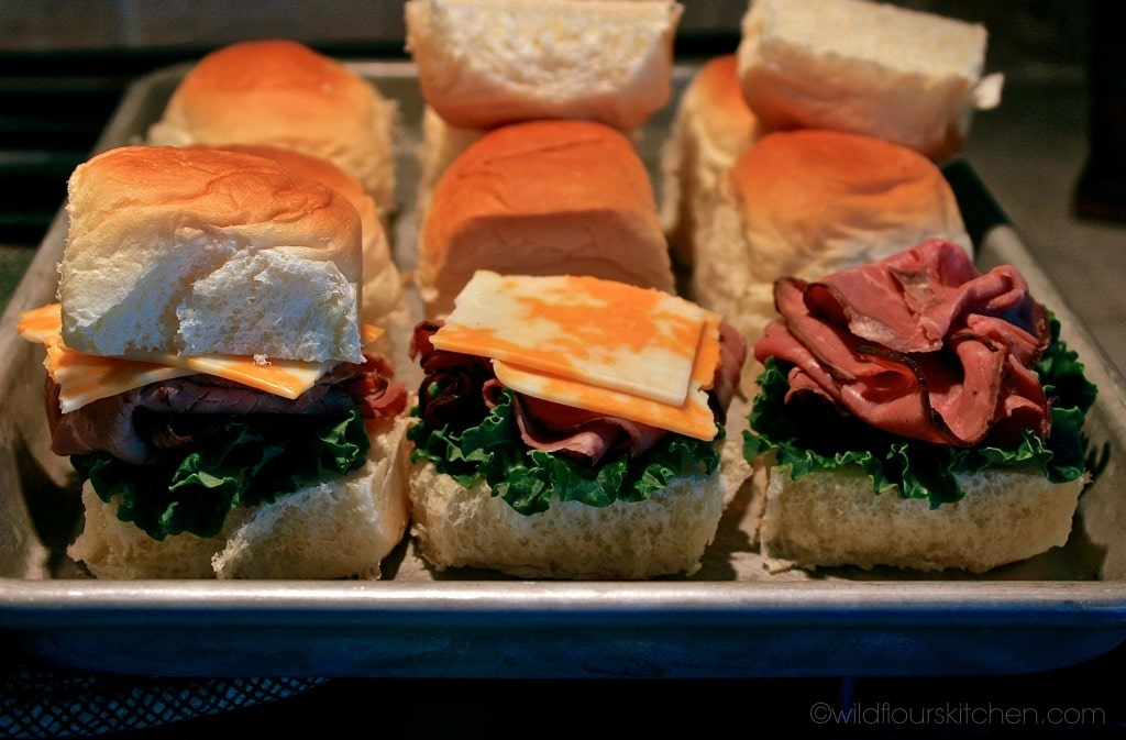 roast beef sliders assmbly
