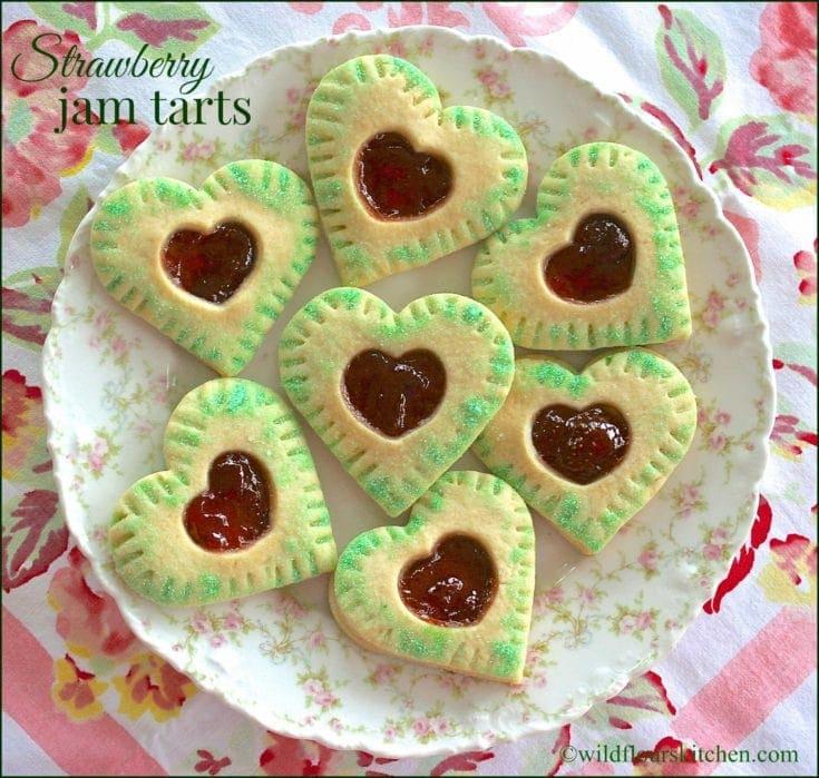 Strawberry Jam Tart Cookies
