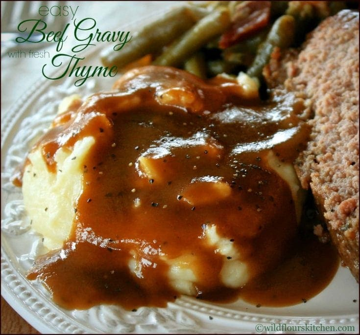 Easy Beef Gravy with Fresh Thyme