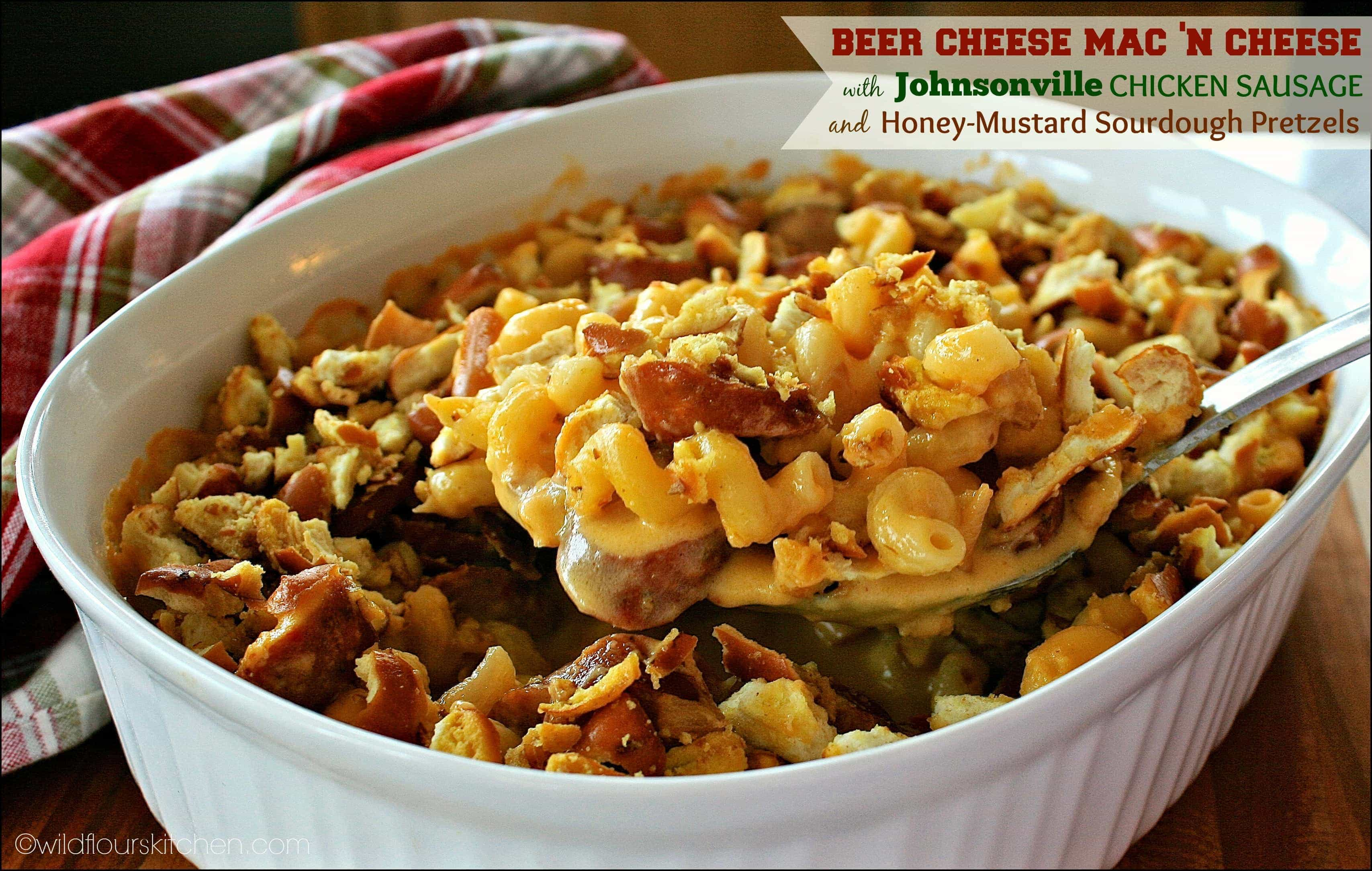 Whole Grain Mustard & Sausage Beer Cheese Mac 'n Cheese with Sourdoug...
