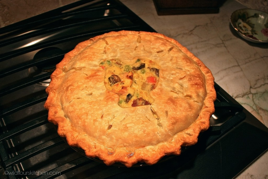 chicken pot pie cooling:stovetop