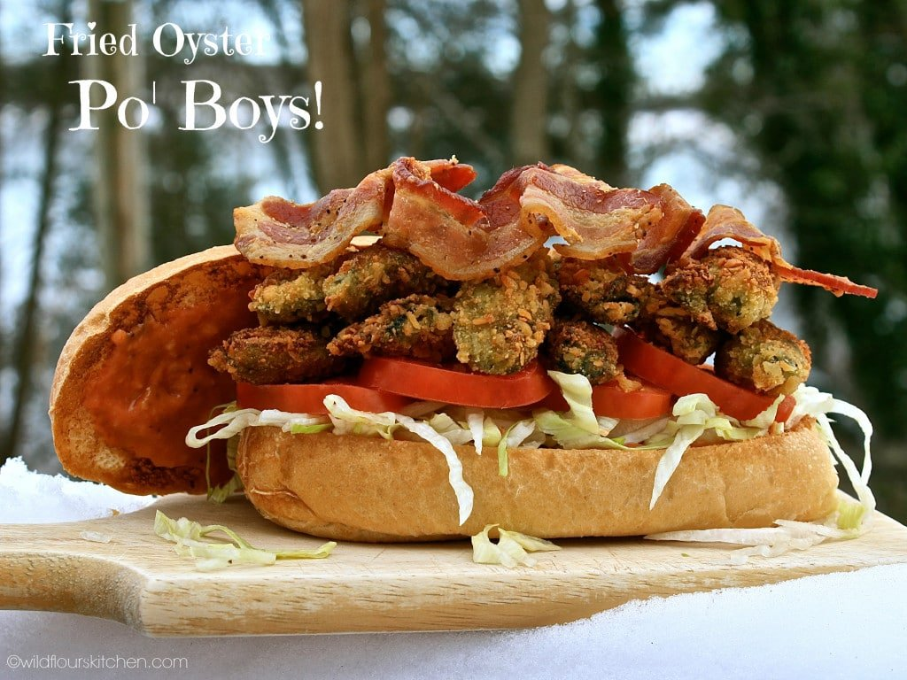 Oyster Po' Boys with Bacon, Lettuce, Tomato & Creamy Cocktail Sauce ...