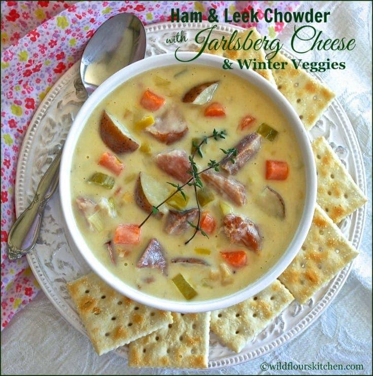 Ham & Leek Chowder with Jarlsberg Cheese & Winter Veggies