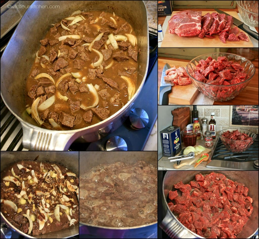 beef n noodles collage