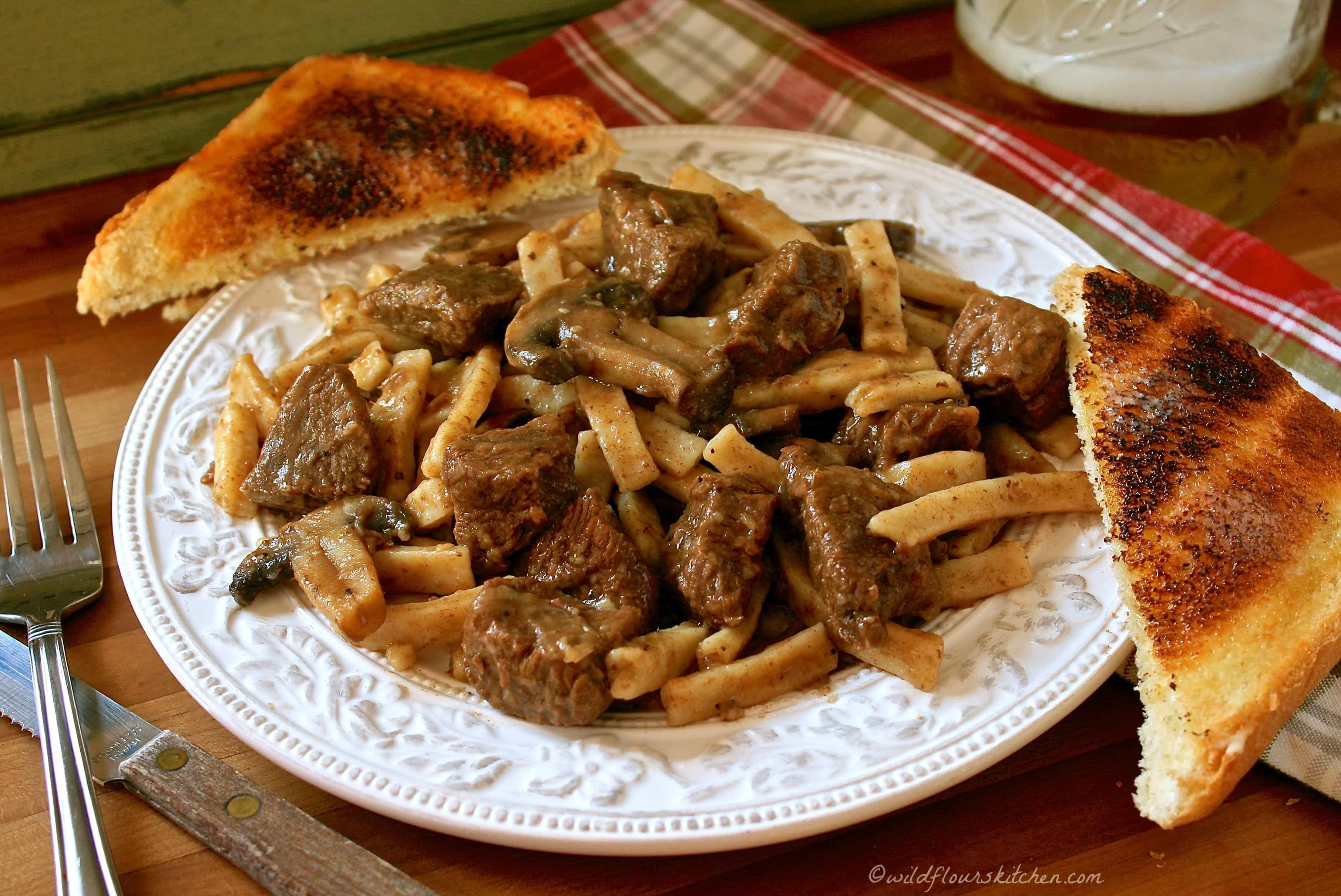 home style beef u0027n noodles with mushrooms u0026 onions wildflour u0027s