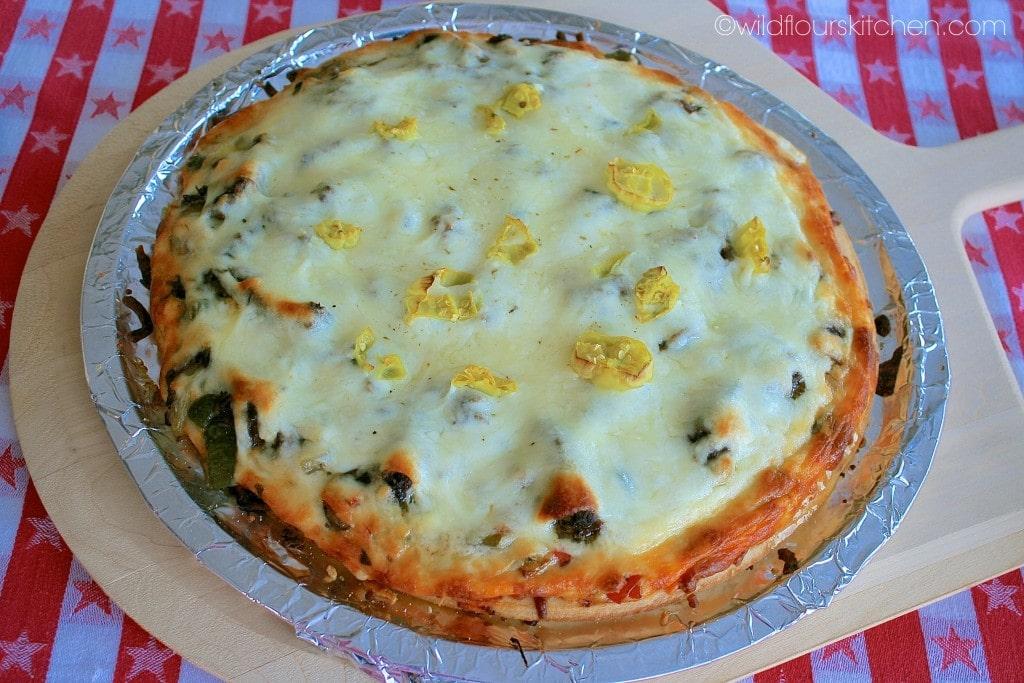 italian beef pizza done