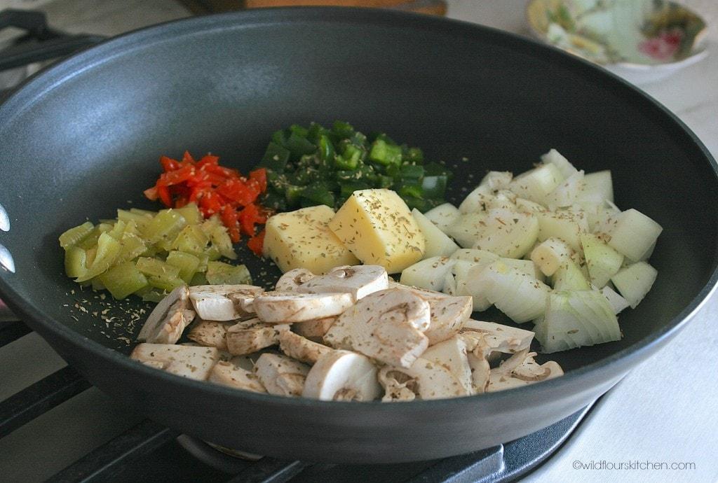 pan of veggies