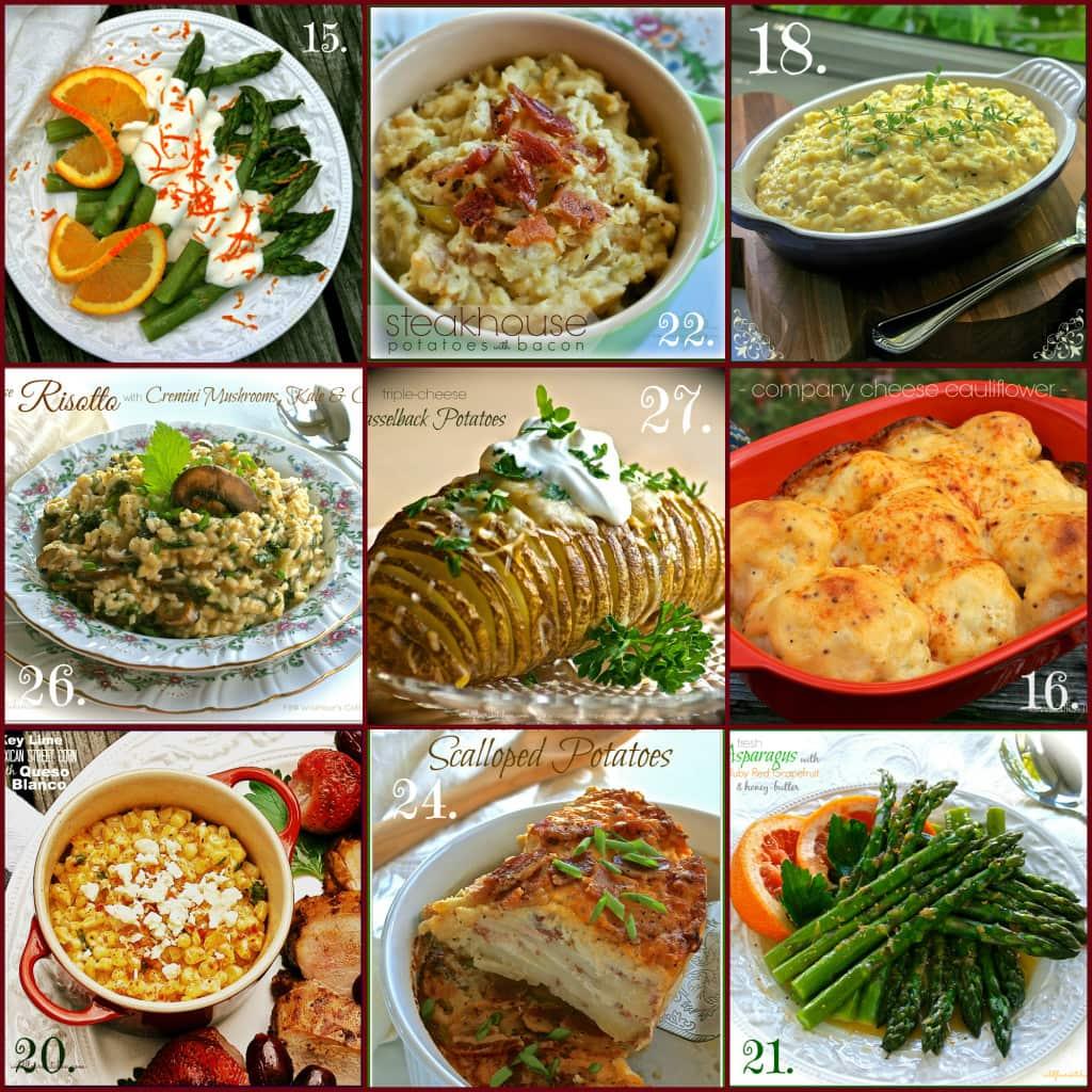 v-day side dish collage