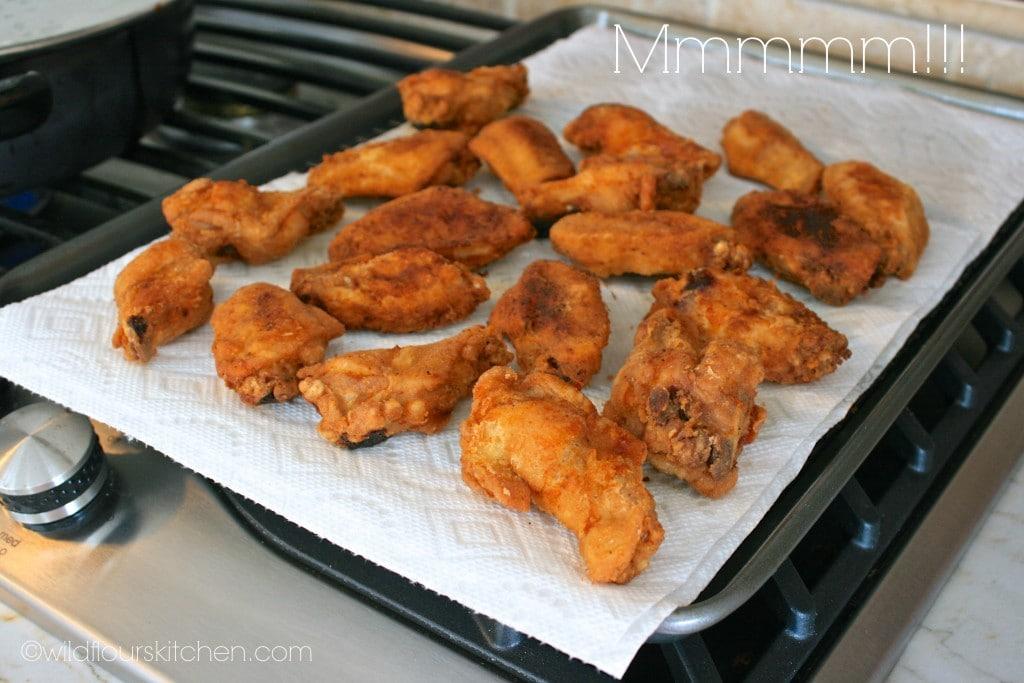 wings fried