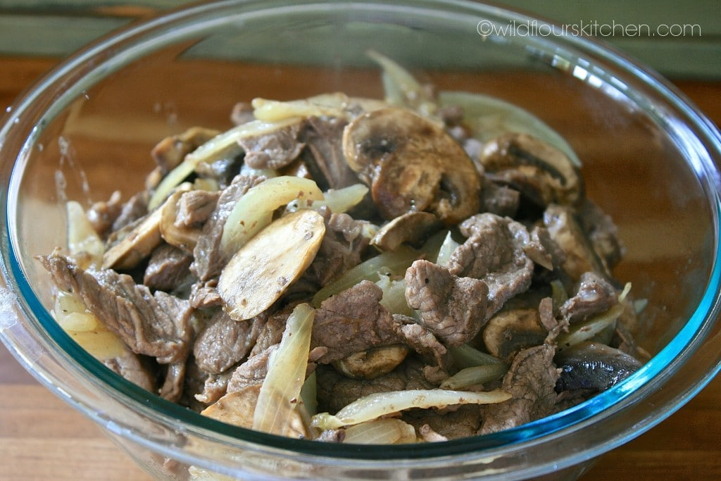 beef shrooms & onions