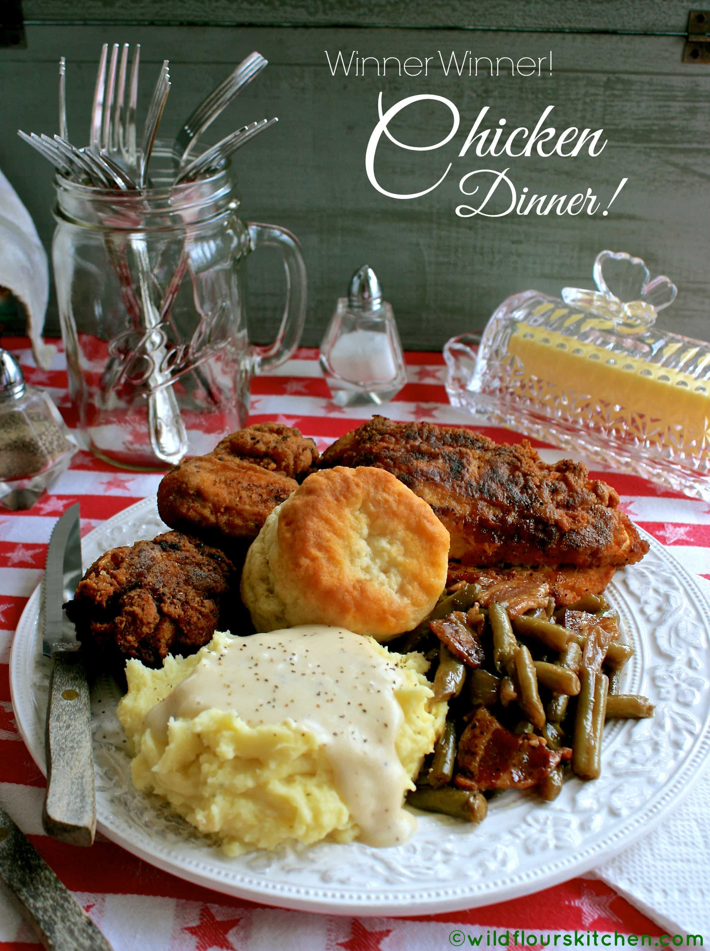 Best deep south southern fried chicken wildflours cottage kitchen fried chicken dinner forumfinder Image collections