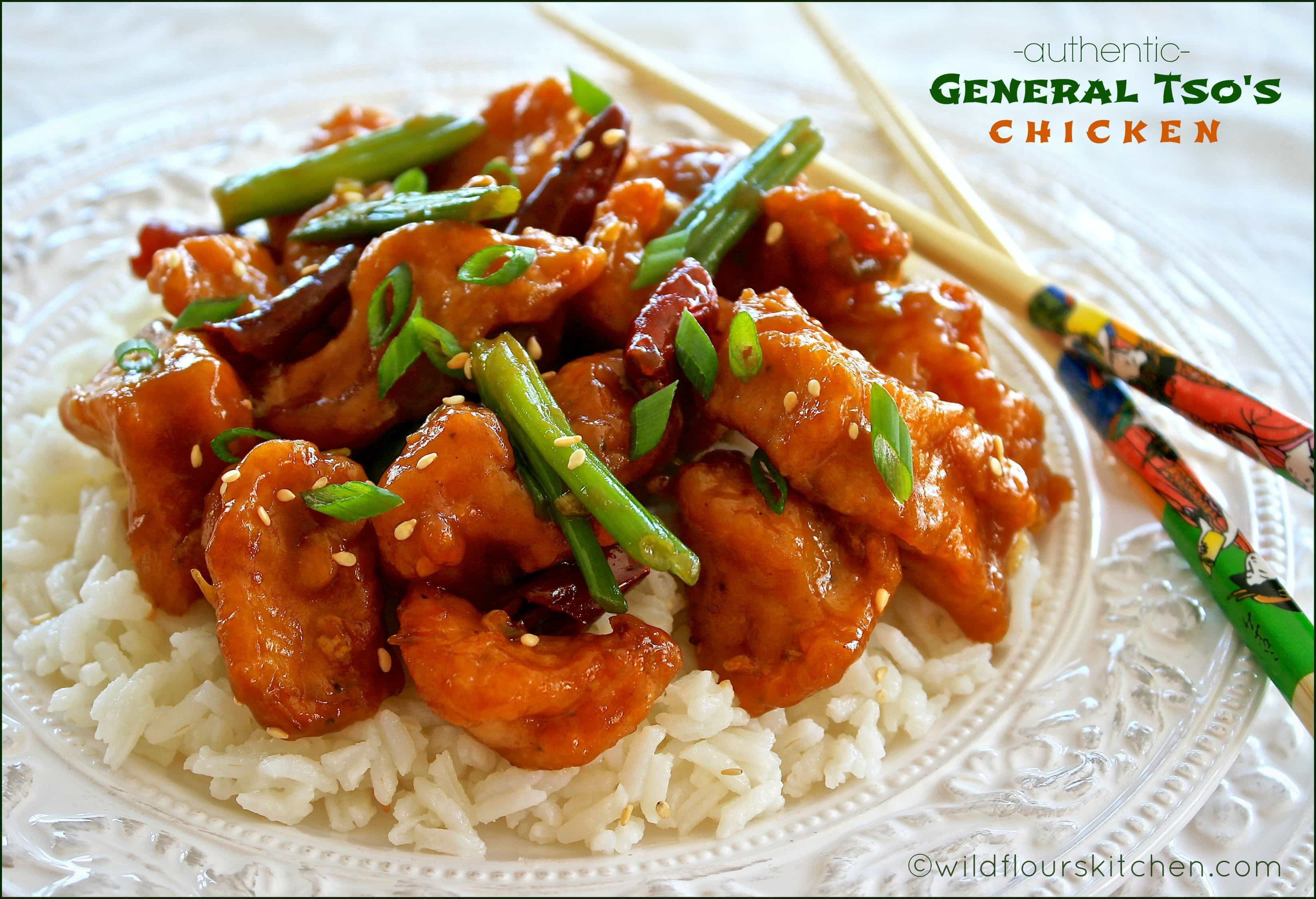 Authentic General Tso's Chicken with Green Onions & Dried Red Chili ...