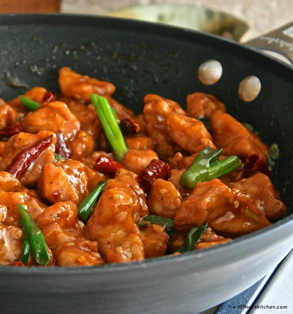 general tso's chix pan