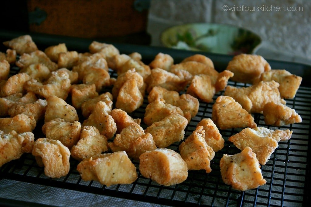 general tso's fried chix closer