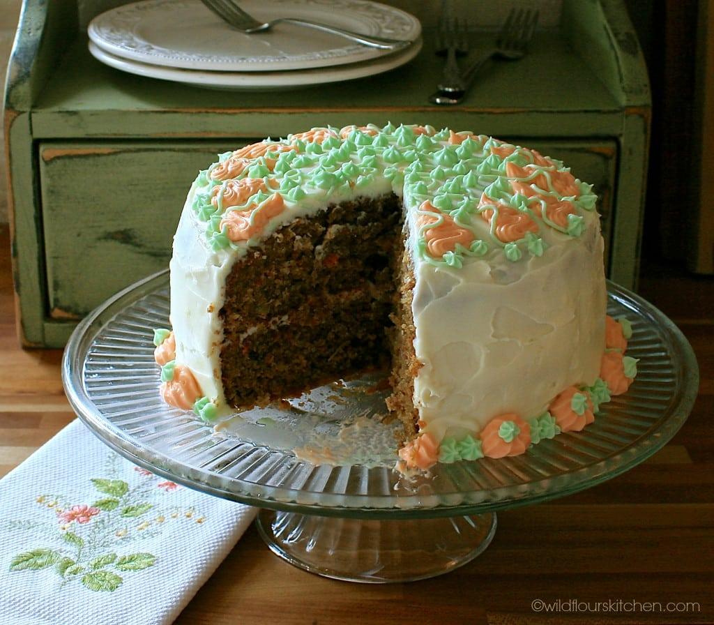 carrot cake cut