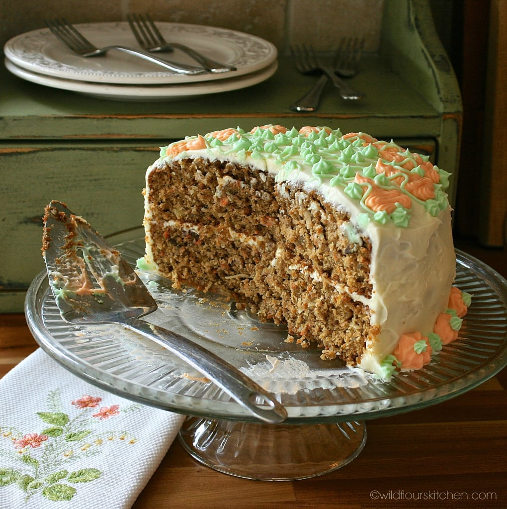 carrot cake half