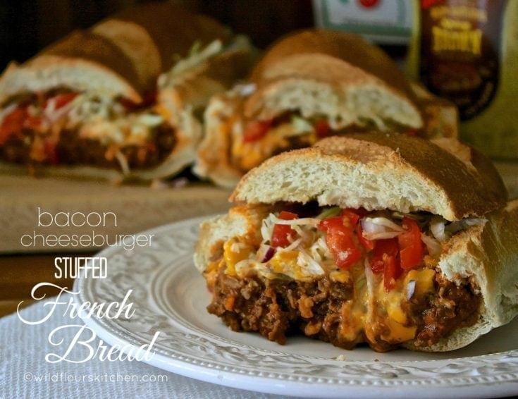 Bacon Cheeseburger Stuffed French Bread