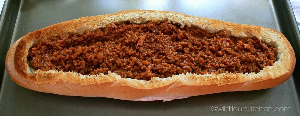 cheeseburger in bread