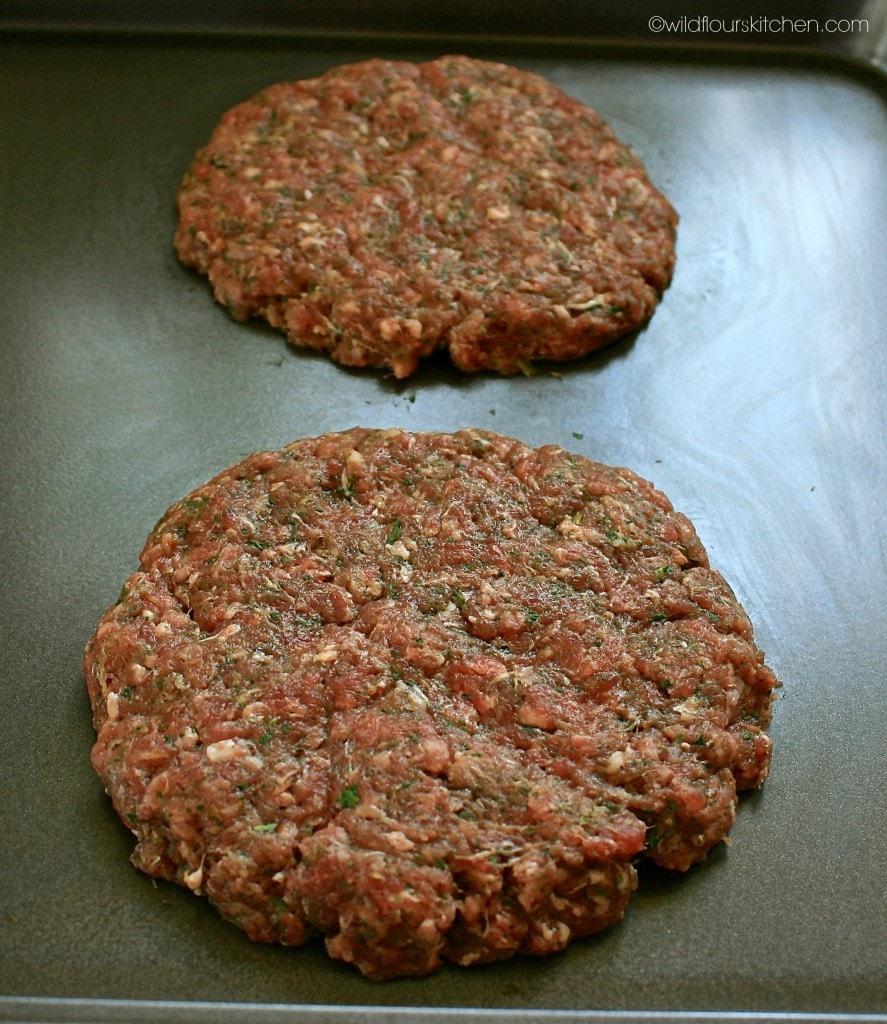 pesto burger patties