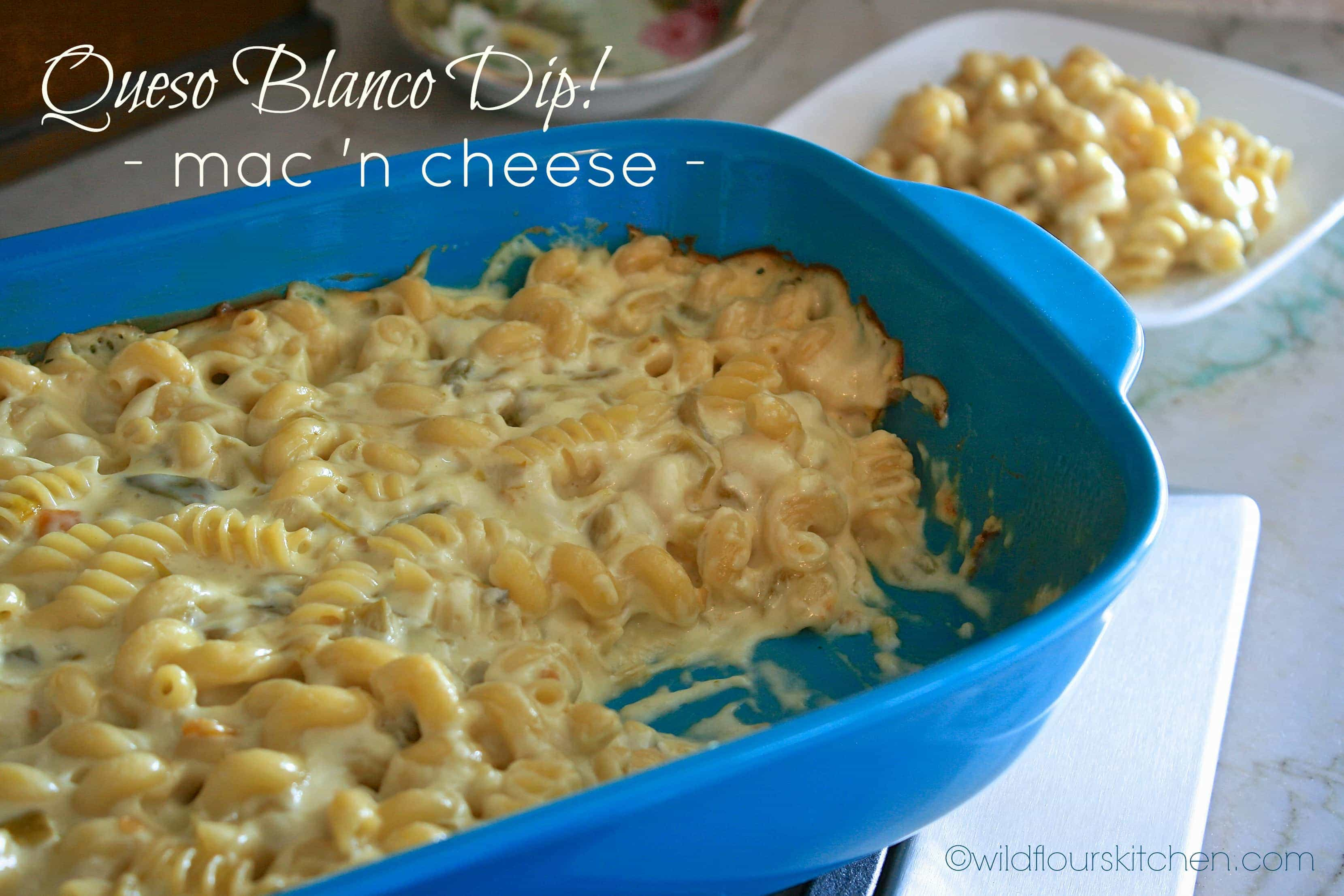 Queso Blanco Dip Mac 'n Cheese! - Wildflour's Cottage Kitchen