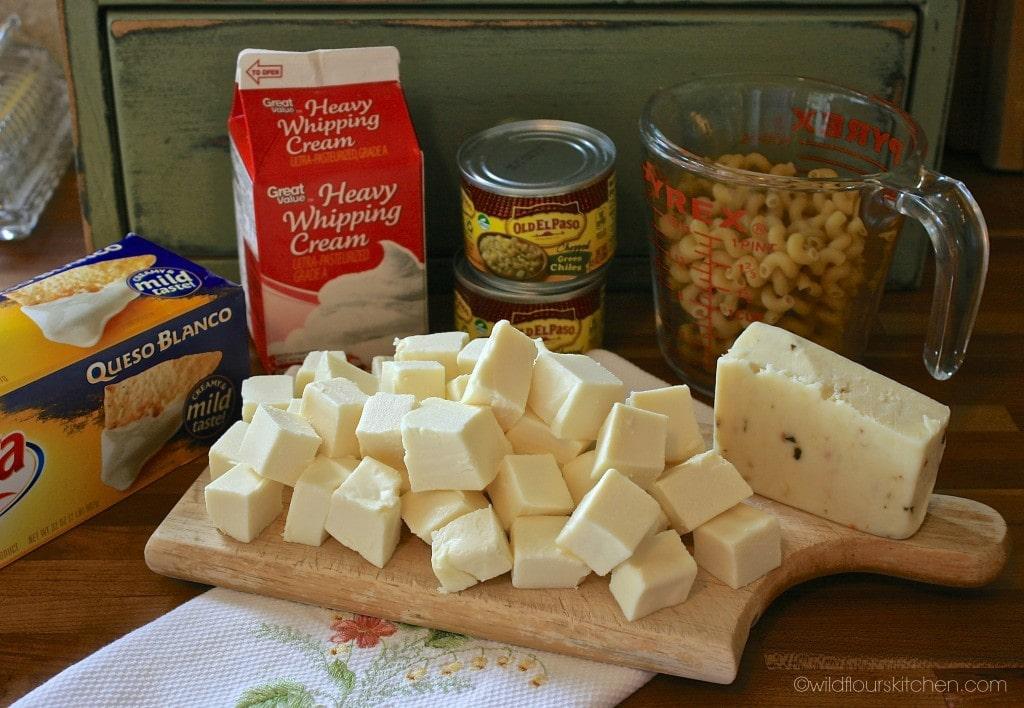 queso blanco mac ingrdnts