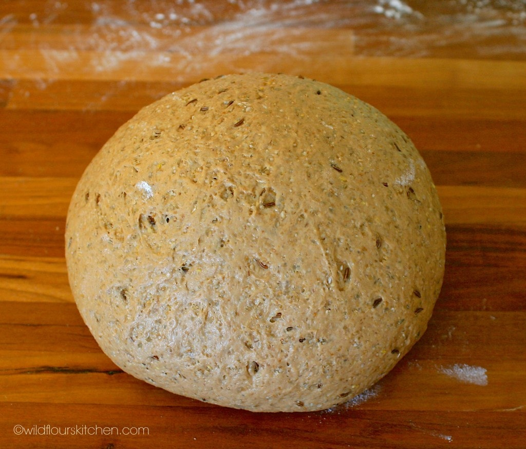 rye roll dough kneaded