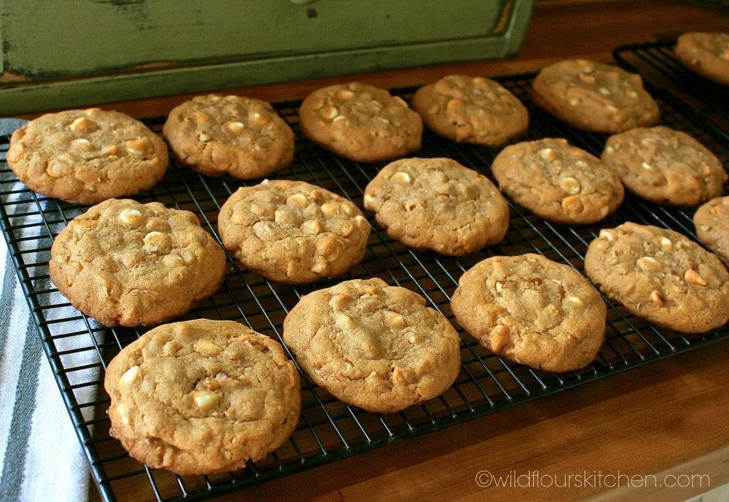 butterscotch cookies cooling