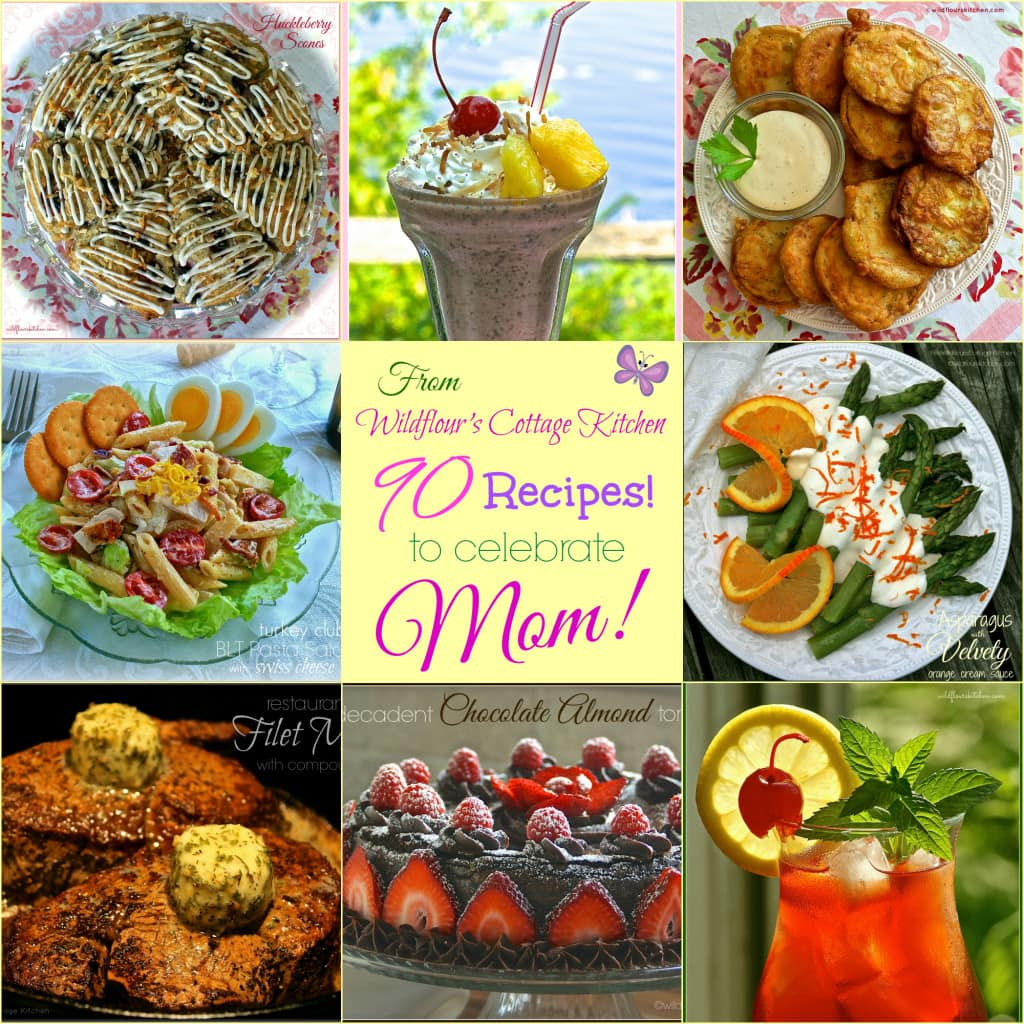 mothers day recipe collage