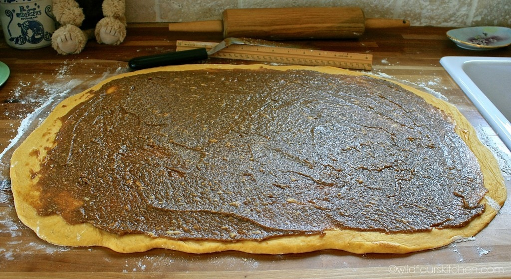 pumpkin roll dough spread