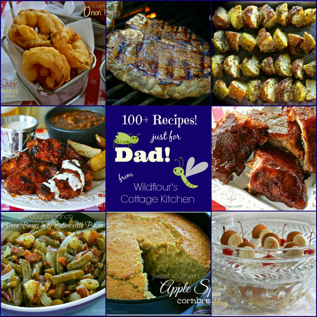 Father's Day recipe collage