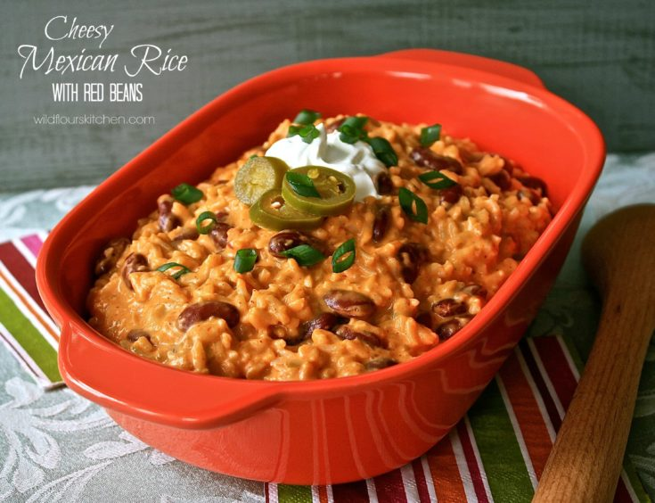 Cheesy Mexican Rice with Red Beans