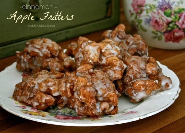 Cinnamon Apple Fritters (Fried Apple Doughnuts)