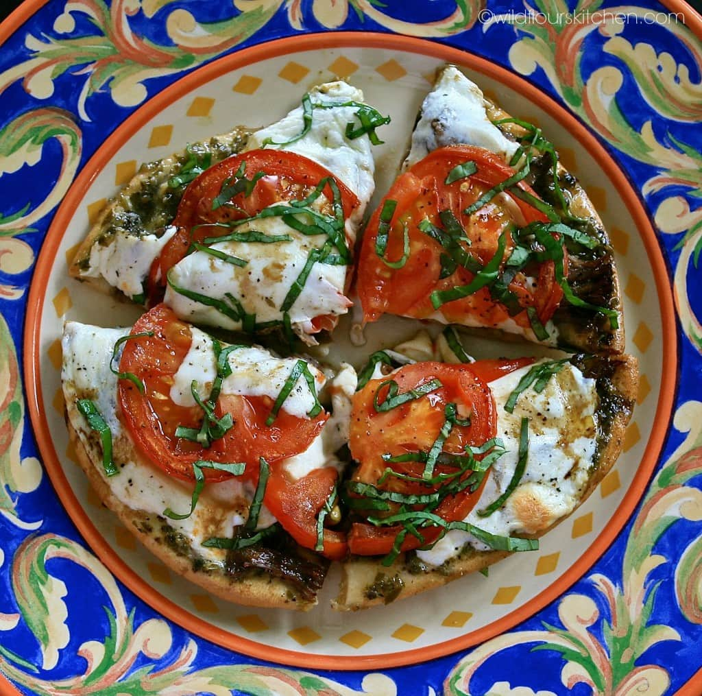italian style pita plated