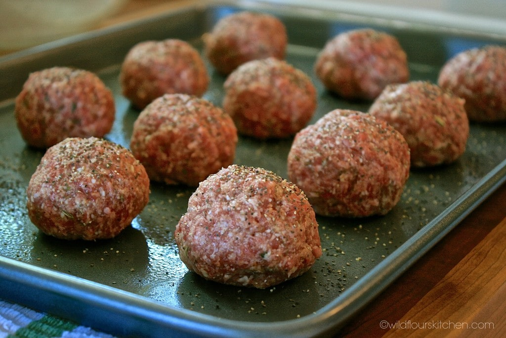 meatballs peppered