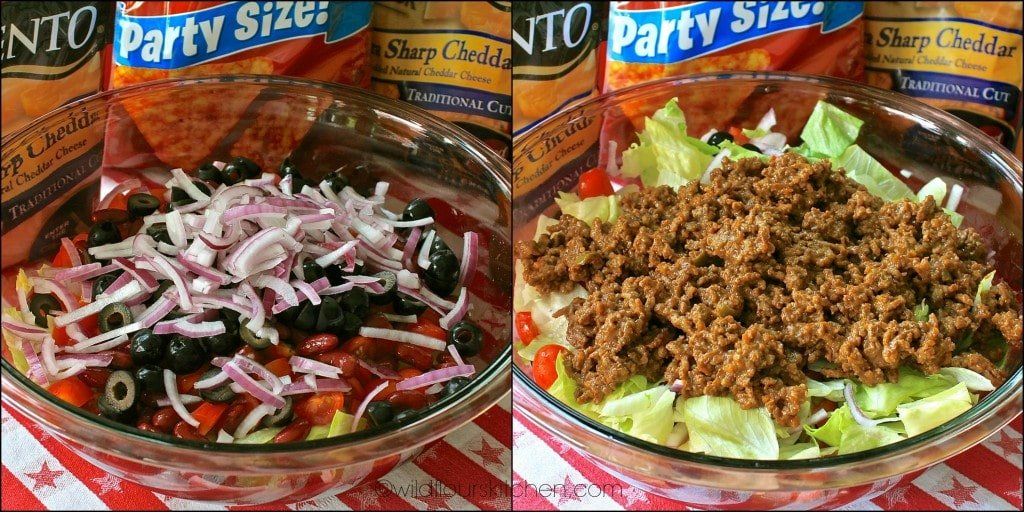 taco salad assmbly 1