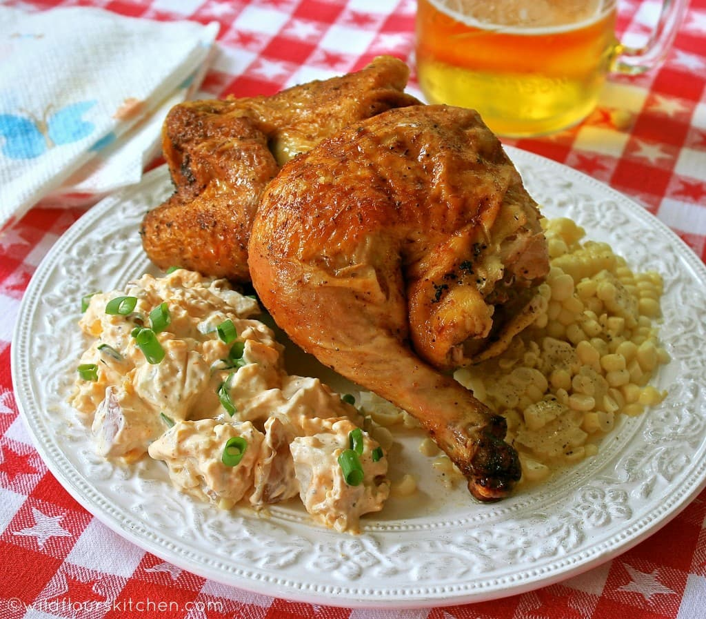 beer can chicken plated 2