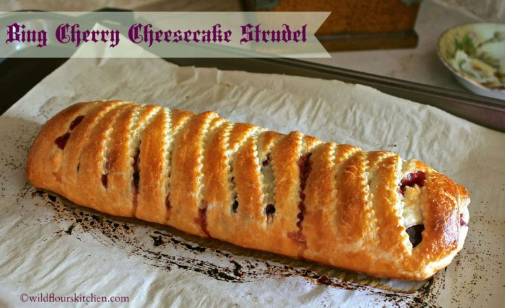 Bing Cherry Cheesecake Strudel (Plus easy no pitter hack!)