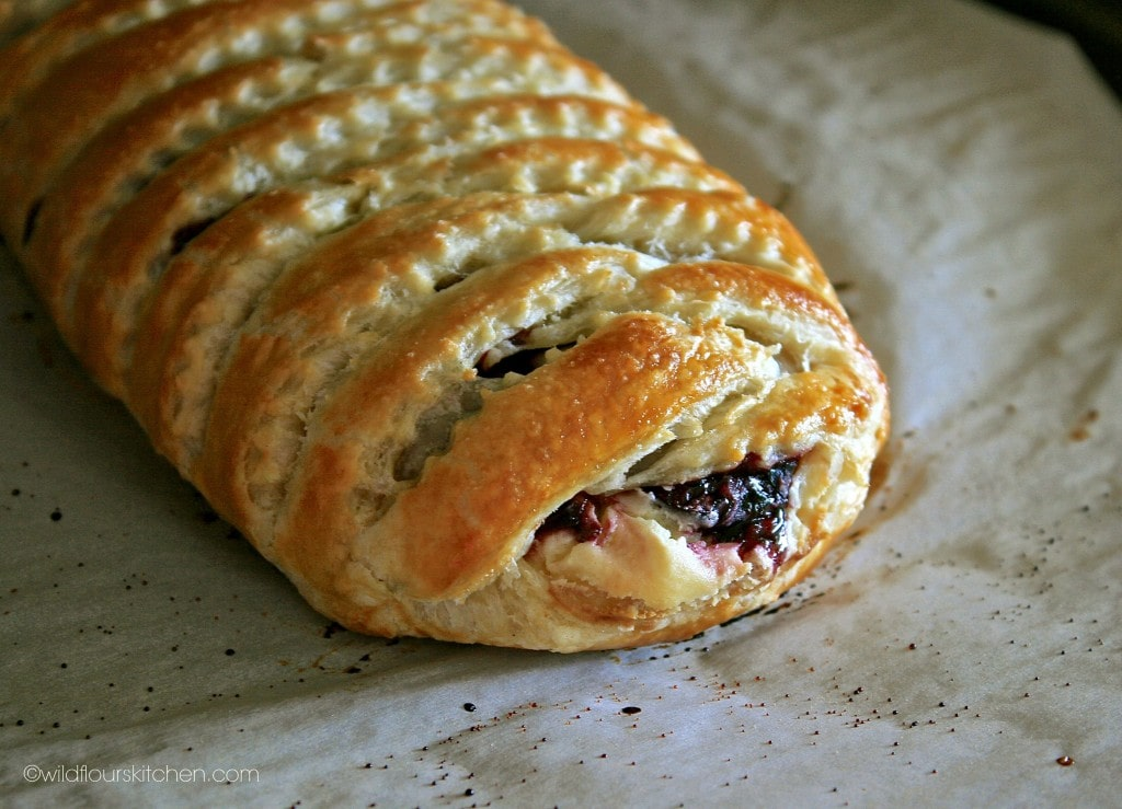 bing cherry strudel close