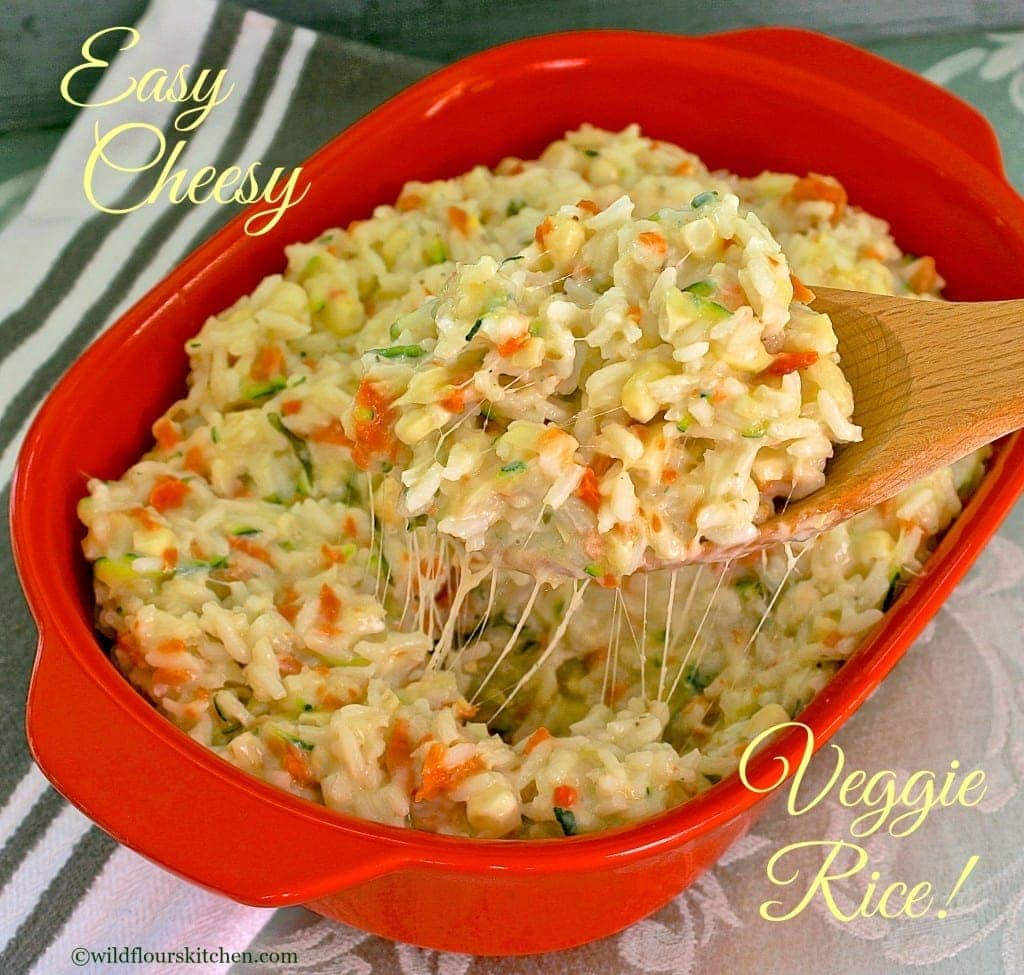 cheesy veggie rice