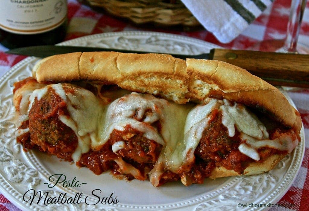 pesto meatball subs lg. main