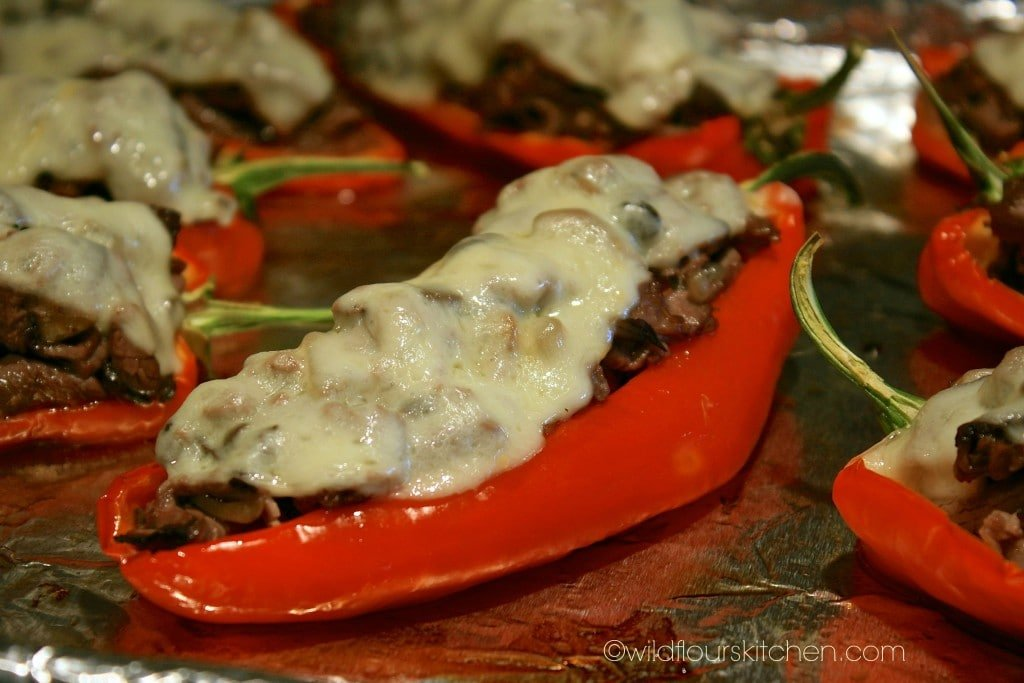 cheesesteak peppers close up