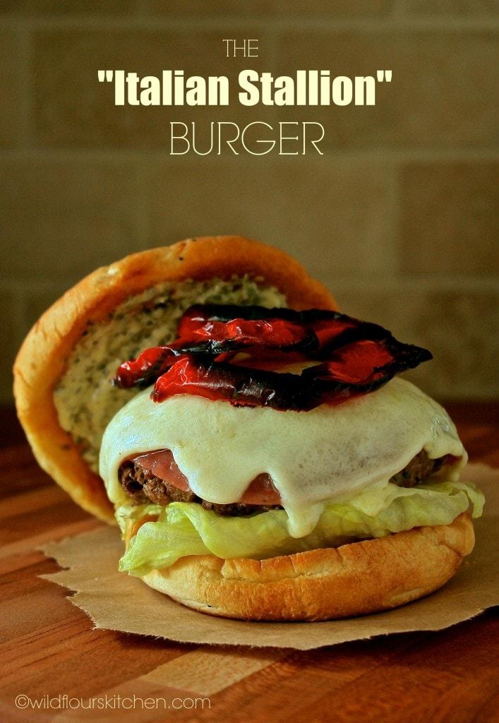 italian stallion burger no lid