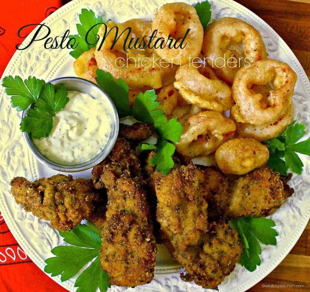 Pesto Mustard Chicken Thigh Tenders - Wildflour's Cottage Kitchen