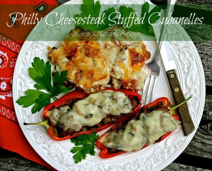 Easy Philly Cheesesteak Stuffed Cubanelle Peppers