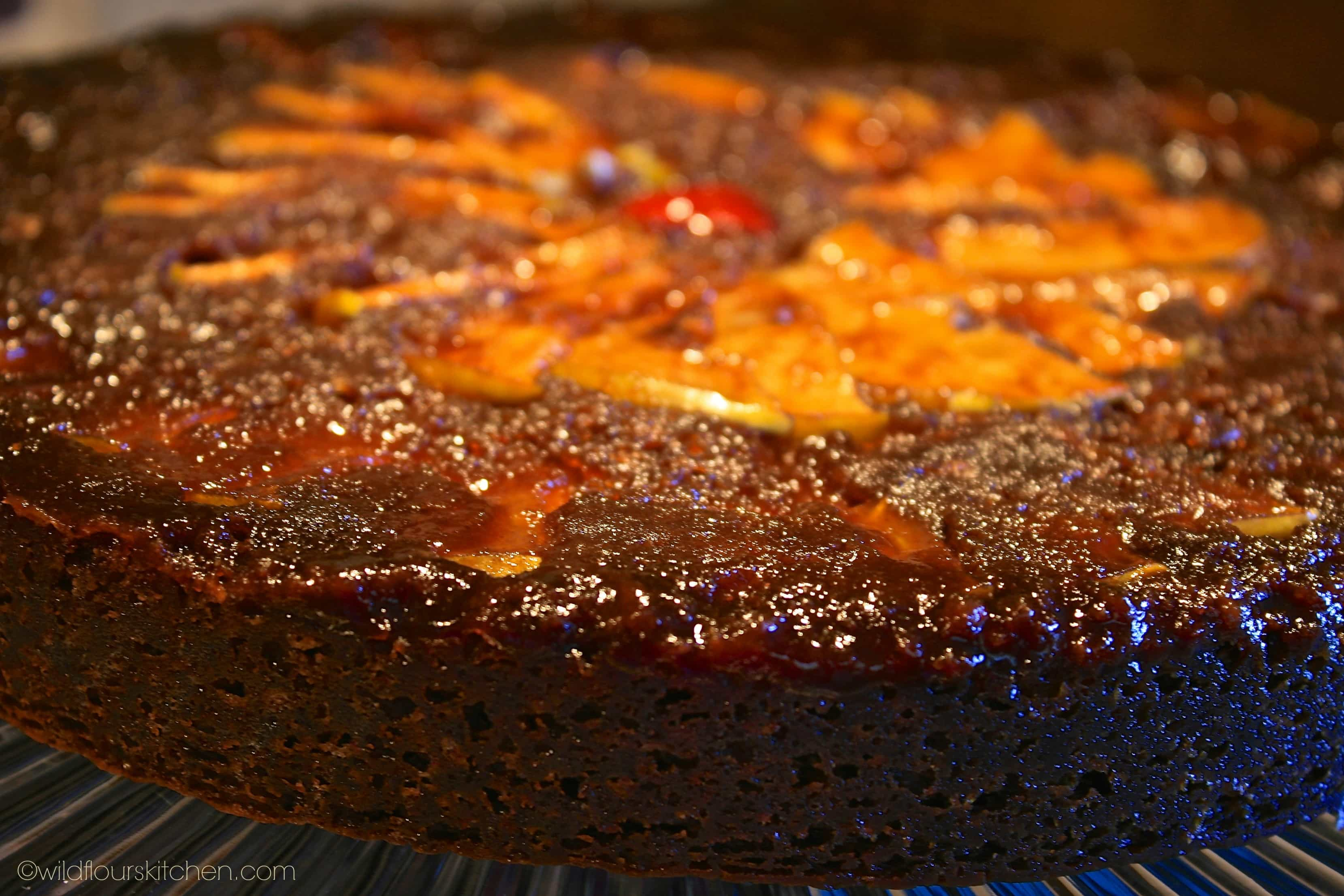 Warm Gingerbread Cake With Homemade Caramel Sauce